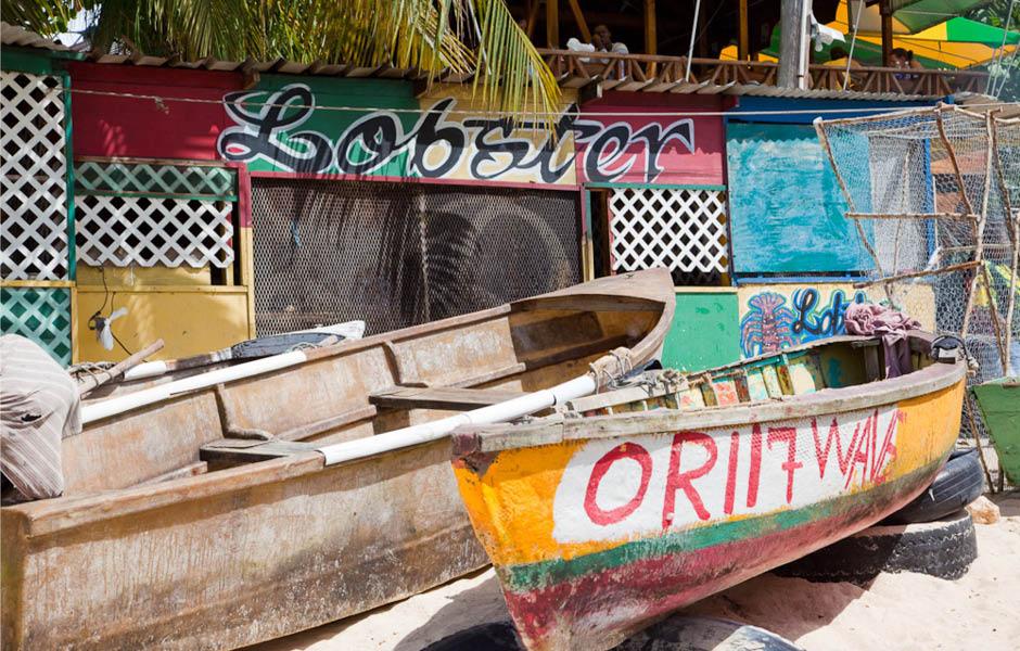 boats caribbean jamaica beach