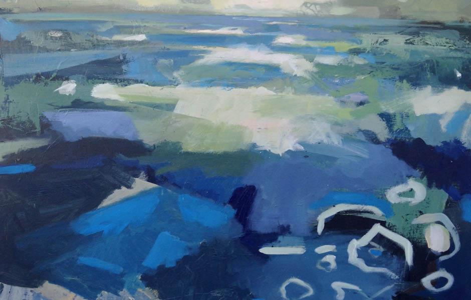 Nina brooke artwork painting light over distance