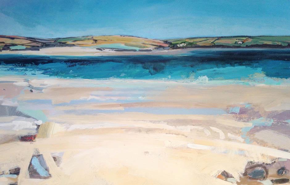 nina brooke artwork painting tresgirls summer tide