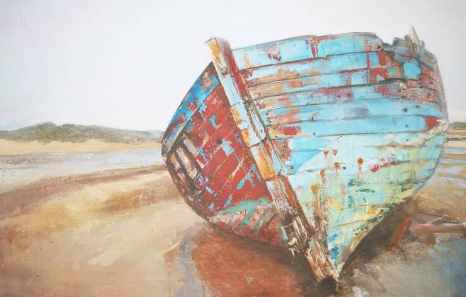 nina brooke artwork painting wrecked